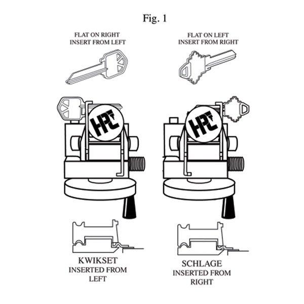 Punch key cutting machine