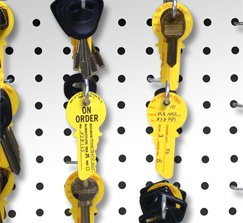 Key Blank Inventory Control Tags